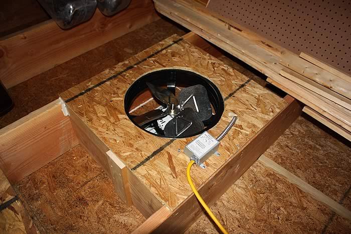 Attic fan vs whole garage house fan the garage journal board aloadofball Choice Image