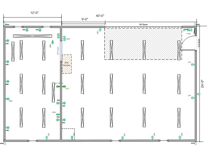 post your shop's electrical plan here  the garage journal board, wiring diagram