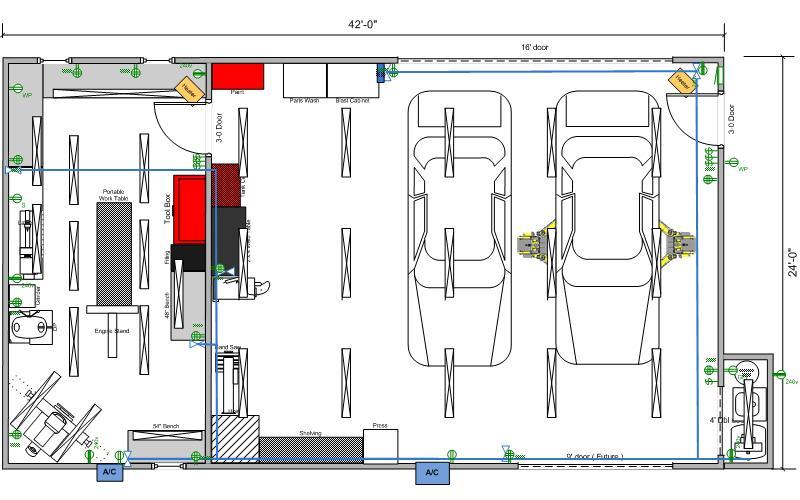 40x60 Shop Wiring Diagram Wiring Diagram With Description